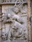 Dancing Apsara with amazing hair shringar