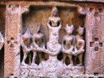 Vishnu-Avatar : Kurma (Samudra manthan by demons on right & gods on left)