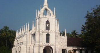 Mae De Deus Church in Saligao
