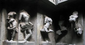 Remains of the sculptures