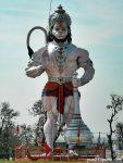 A mighty Hanuman statue on Jammu highway