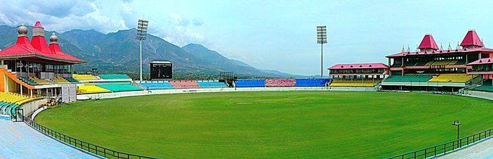 Panorama of Dharamshala Stadium, Himachal Pradesh