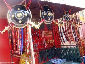 Weaponry at Pushkar Street Market